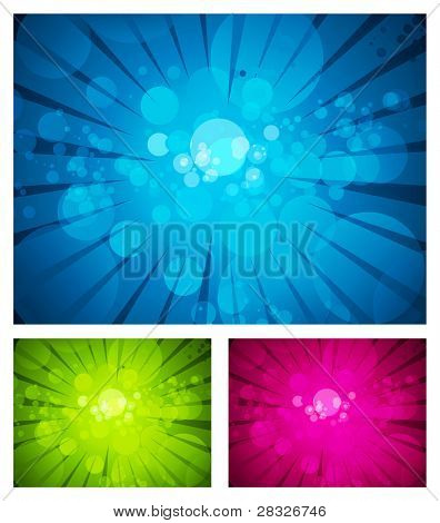 Set of colorful abstract backgrounds. Vector Illustration
