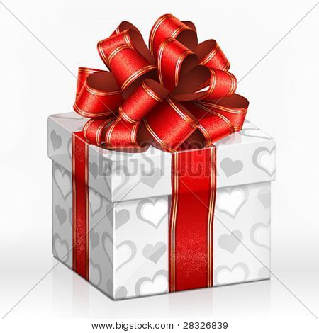 White gift box. Vector Illustration