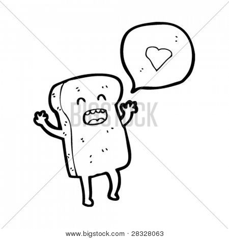 i love toast cartoon
