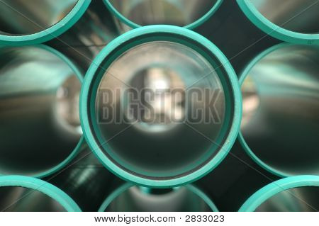 Green Pvc Pipes