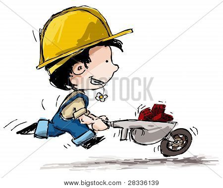 Smiling Boy Constructor