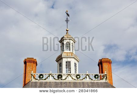 Roof Of Governors Palace In Williamsburg