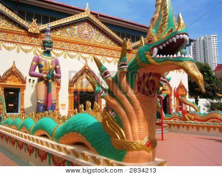 Thai Tempel Statuen