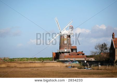 Windmill At Cley, Norfolk
