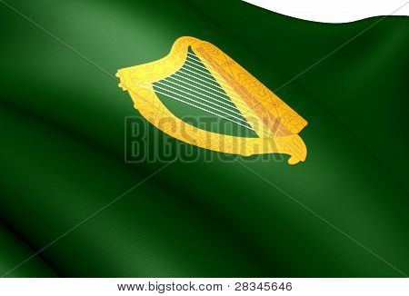 Flag Of Leinster Province, Ireland.