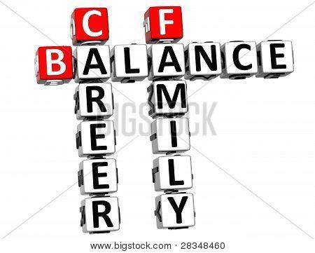3D Balance Leben Familie Kreuzworträtsel