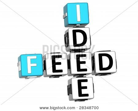 3D Feed Idea Crossword