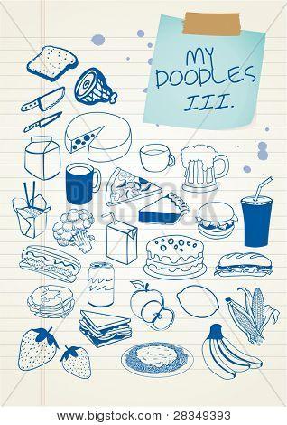 Doodle set 3 - food