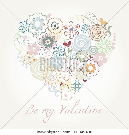 Valentine floral illustration