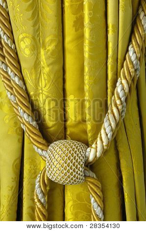 Silk Curtain In A Castle