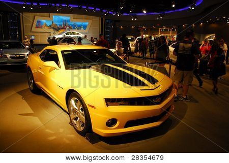 USA, Orlando Florida-DEC2011: Chevrolet Camaro from Transformers were displayed at the Epcot Centre