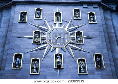 The Clock of Citizens, , Jacquemart clock, in Brussels.