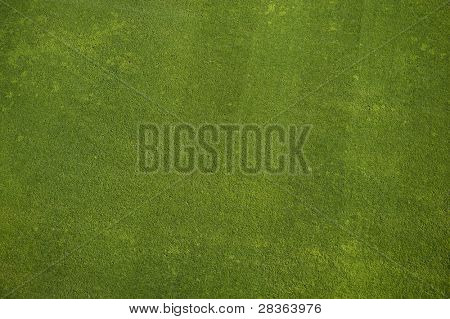 Natural grass texture. Aerial view of football field.