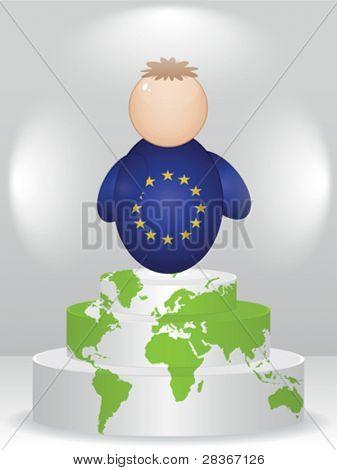 european buddy on podium