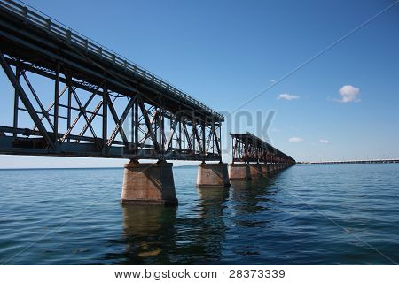 interrupted rail bridge to key west