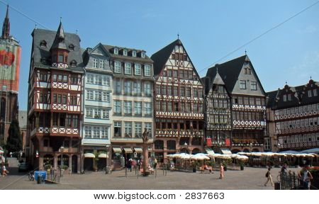 Europe Germany Frankfurt Am Main Romerplatz Old Town Main Square