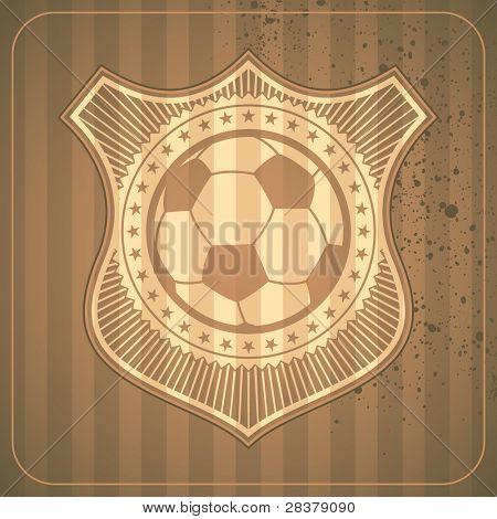 Ilustrado crista de futebol. Ilustração vetorial.