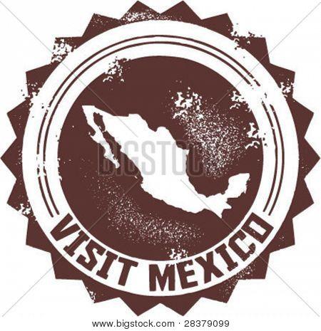 Visite México sello Vintage