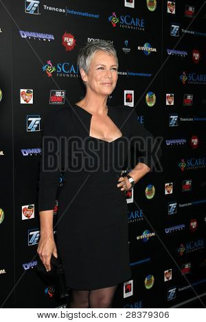 LOS ANGELES - OCT 30:  Jamie Lee Curtis at the sCare Foundation Halloween Launch Benefit at Conga Room - LA Live on October 30, 2011 in Los Angeles, CA