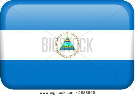 Nicaragua Flag Button