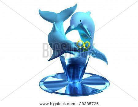 Dolphin Wedding Rings