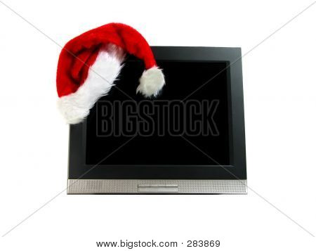 Santa's Hat On A Computer Screen