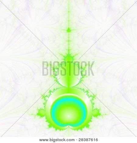 Mandelbrot in Green and Blue