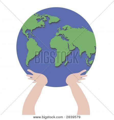Manos sosteniendo el mundo 2