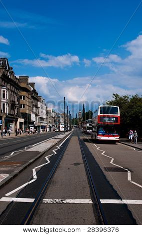 Princes Street, Edinburgh on a shopping day