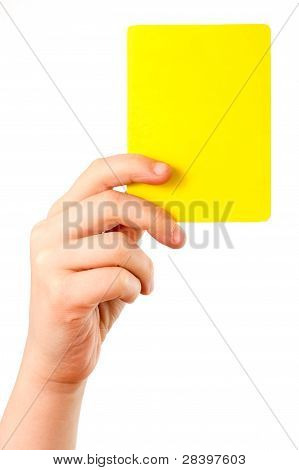 Yellow Card In Hand