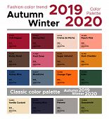 Fashion Color Trend Autumn Winter 2019-2020 And Classic Color Palette. Palette Fashion Colors With N poster
