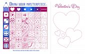 Educational Game Zentangle Elements Valentine poster