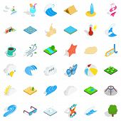 Water Creation Icons Set. Isometric Style Of 36 Water Creation Icons For Web Isolated On White Backg poster