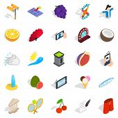 Joyfulness Icons Set. Isometric Set Of 25 Joyfulness Icons For Web Isolated On White Background poster