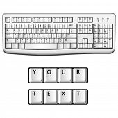 Vector white pc keyboard