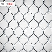 stock photo of chain  - Chain Fence - JPG