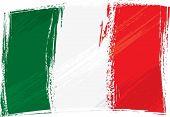 Постер, плакат: Флаг Италии гранж