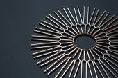 Tuning Fork Round Pattern On A Black Background poster