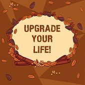 Handwriting Text Writing Upgrade Your Life. Concept Meaning Improve Your Way Of Living Getting Wealt poster