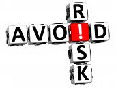 image of fail-safe  - 3D Credit Risk Crossword on white background - JPG