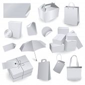 Set of blank package templates