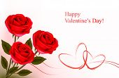 stock photo of red rose flower  - Valentine - JPG