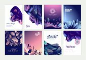 Set Of Brochure, Annual Report And Cover Design Templates For Beauty, Spa, Wellness, Natural Product poster