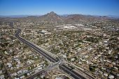 picture of piestewa  - Piestewa Peak Parkway and recreational hiking destination in the Arizona desert - JPG