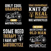Motorcycle Quote And Saying. Set Of Motorcycle Quote, Good For Print poster