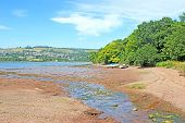 River Teign In Devon At Low Tide poster