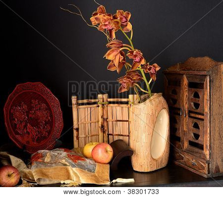 still life in oriental style