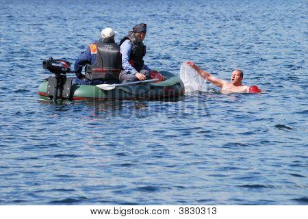 Police Patrol On Lake