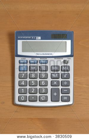Calculator On Desk