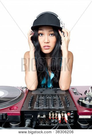 Female Dj Posing For A Photo